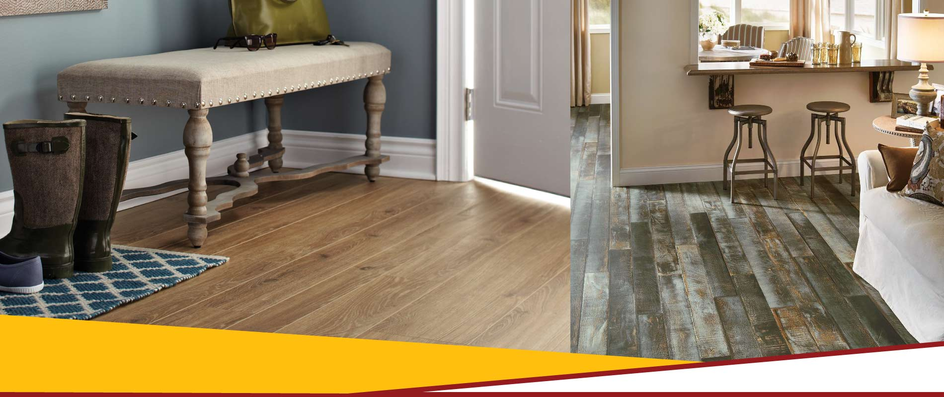 Residential house laminate flooring